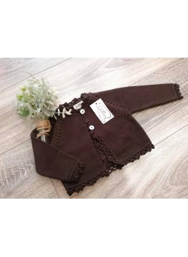 CHAQUETA LARGA MARRON